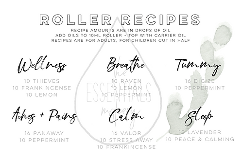 Starter Kit Roller Recipe Card
