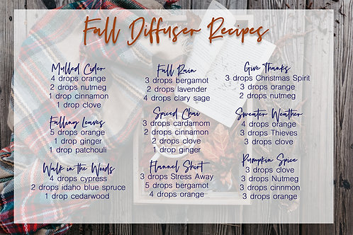 Fall Diffuser Blends postcard
