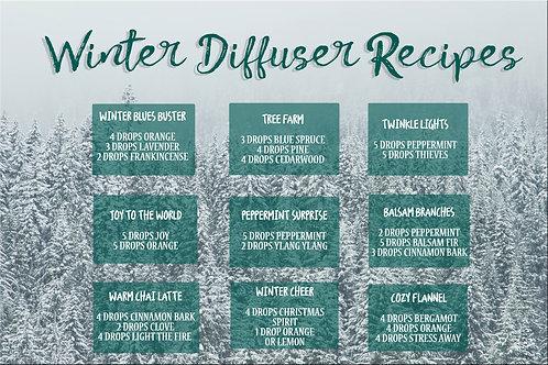 Winter Diffuser Blends postcard