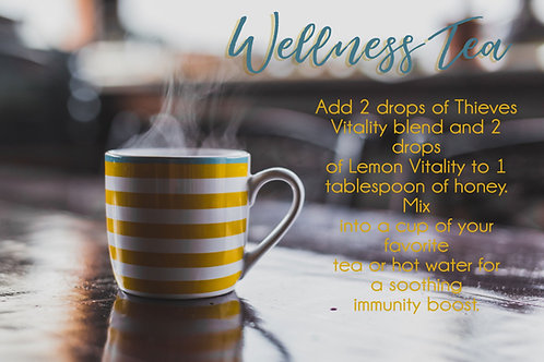 Wellness Tea postcard
