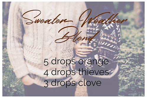 Sweater Weather diffuser blend postcard