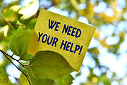 Word writing text We Need Your Help. Bus