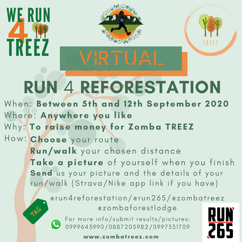 Run4Reforestation 2020.... is virtual!