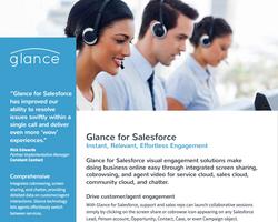 Glance for Salesforce data sheet