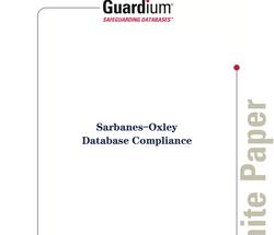 Guardium White Paper on SOX
