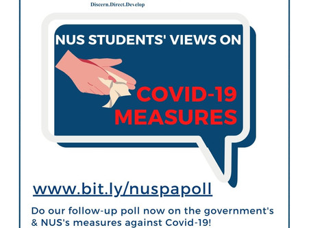We want your views on NUS and gov's Covid-19 measures!