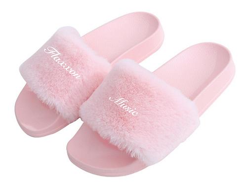 FLAXXON Luxury Mink Slides