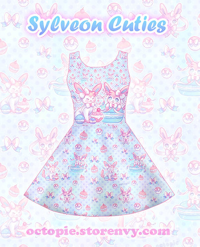 """Sylveon Cuties"" Sleeveless Skater Dress"