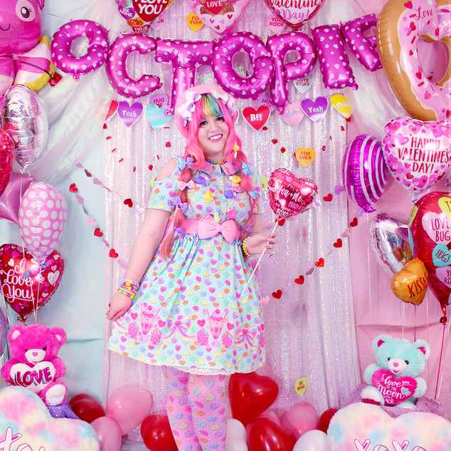 "💖 Mint ""Lovely Candy Heart"" Short Sleeve Cut Out Dress"