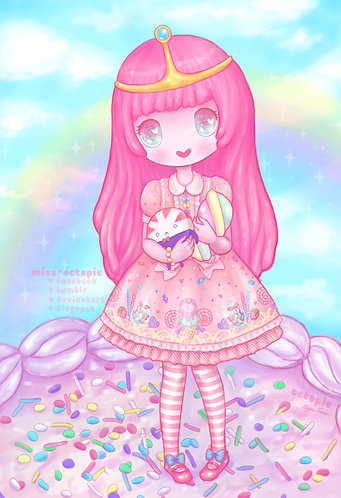 """Princess Bubblegum"" Art Print"