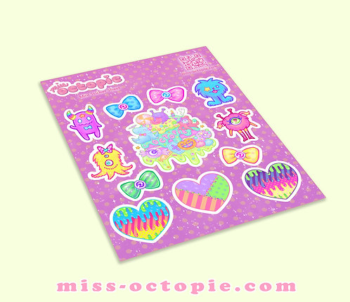 Fashion Monster Vinyl Sticker Sheet