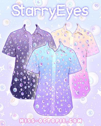 """Starry Eyes"" Button-Up Shirt"