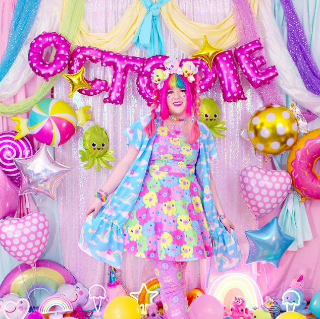 """💖 """"OctoPals"""" Skater Dress 💖 """"DreamyOcto"""" Wrap Dress 💖 """"OctoParty"""" Velvet Leggings"""