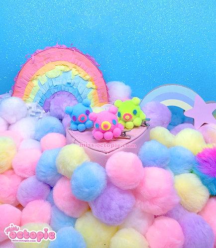3 set Neon OctoBaby Dumbo Octopus Hair Clips