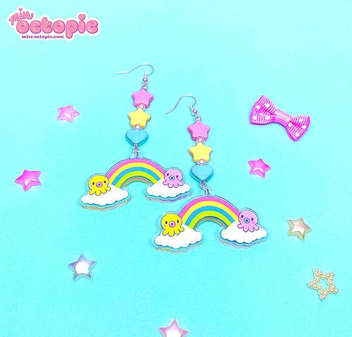 """""""DreamyOcto"""" Dangle Earrings"""