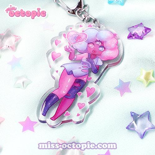 Garnet Glitter Keychain