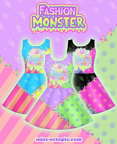 """""""Fashion Monster"""" Sleeveless Skater Dress"""