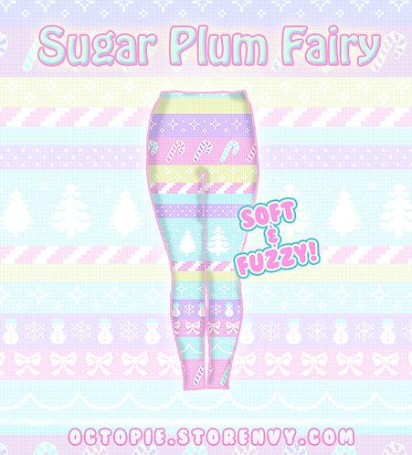 """""""Sugar Plum Fairy"""" Velvet Leggings"""