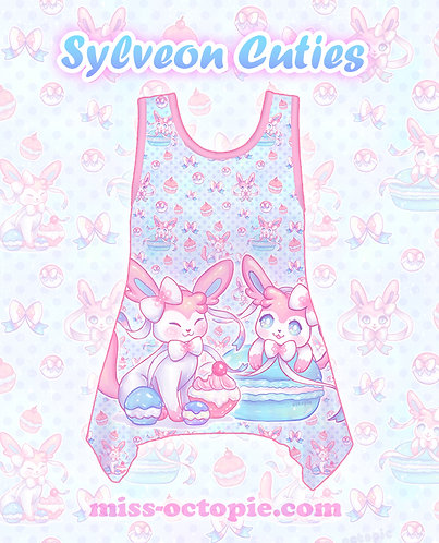 """Sylveon Cuties"" Side Flare Tank Top"