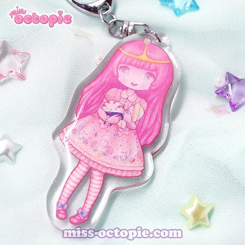 Lolita Princess Bubblegum Glitter Keychain