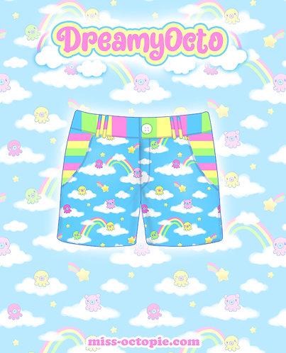 """DreamyOcto"" Zipper Shorts"