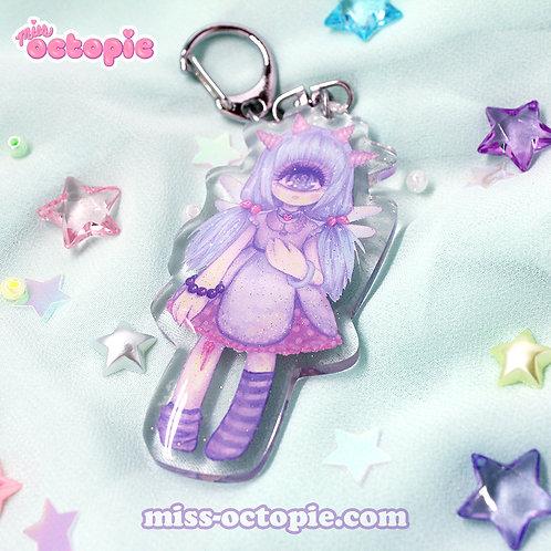 Pastel-Fairy Glitter Keychain