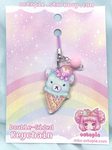 """Mint Bearcone"" Keychain/Cell Phone/DS Charm"