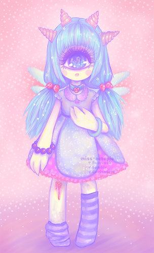 """Pastel-Fairy"" Art Print"