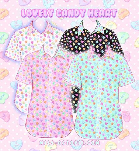 """""""Lovely Candy Heart"""" Button-Up Shirt"""