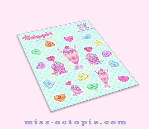 Lovely Candy Heart Sticker Sheet