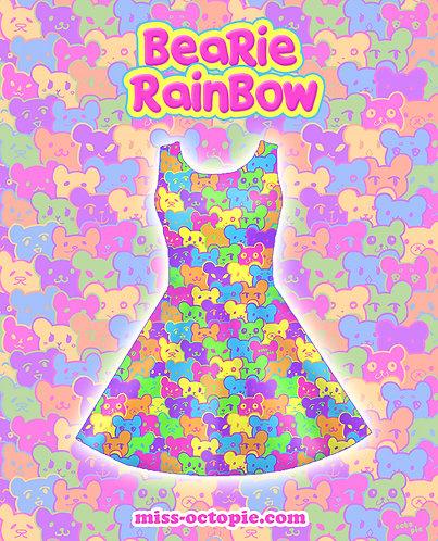 """Bearie Rainbow"" Sleeveless Skater Dress"