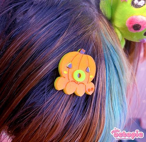 OctoPumpkin Glitter Hair Clip