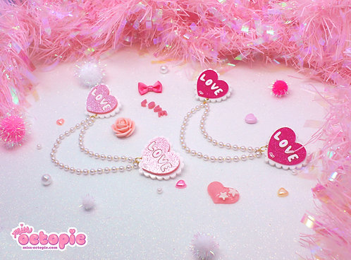 Lacy Heart 2-way clips set