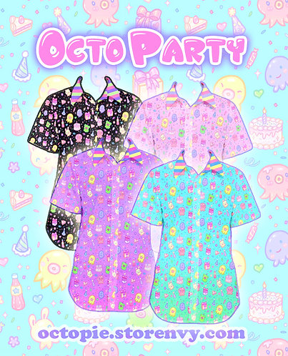 """OctoParty"" Button-Up Shirt"