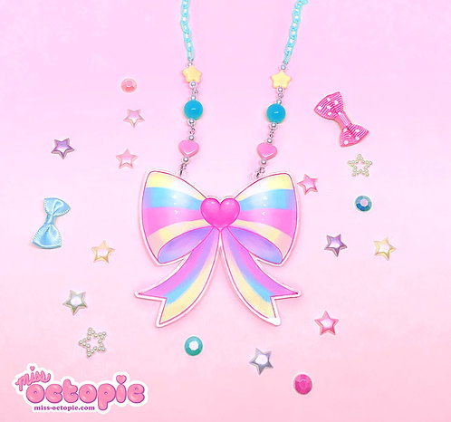 """Heart Bow"" Large Necklace"