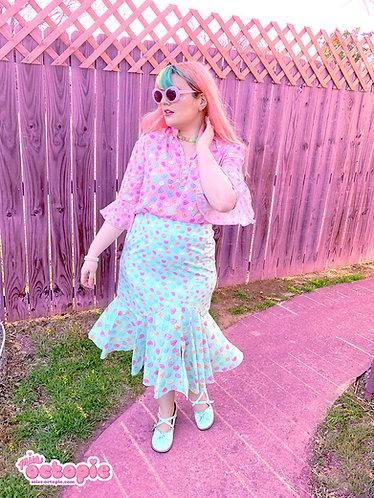 """Lovely Candy Heart"" Chiffon Mermaid Skirt"