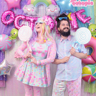 "🎀dress: Mint ""Lovely Candy Heart"" Skater Dress 🎀outerwear: Pink ""Lovely Candy Heart"" Cardigan 🎀bottom: Pink ""AlpacaCorn Fluff"" tights . 💙top: NEW Blue ""AlpacaCorn Fluff"" Button-up Shirt 💙bottom: Mix ""IceCreamy Bearcone"" shorts"