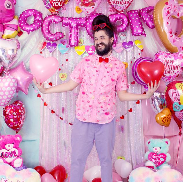 "💖 Pink ""Be My Valentine"" Button Up Shirt"