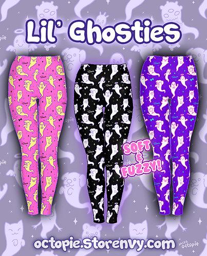 """""""Lil' Ghosties"""" Velvet Leggings"""