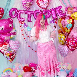 """💖 Pink """"Lacy Heart"""" Chiffon Mermaid Skirt"""