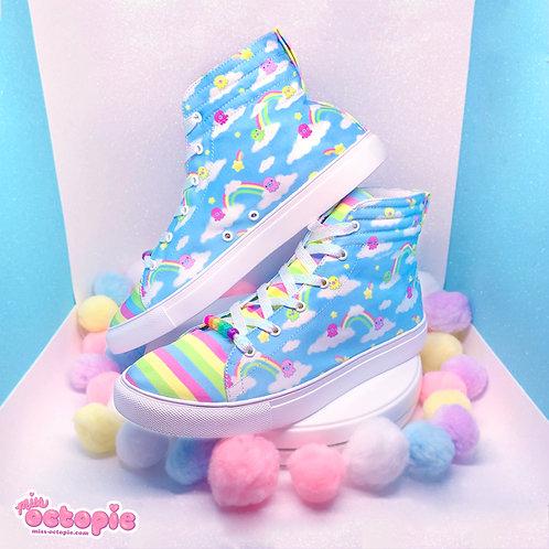 """""""DreamyOcto"""" Hi-Top Shoes"""