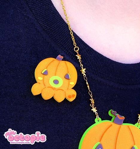 OctoPumpkin Glitter Pin