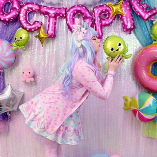 "🎀dress: Mint ""Lovely Candy Heart"" Skater Dress 🎀outerwear: Pink ""Lovely Candy Heart"" Cardigan 🎀bottom: Pink ""AlpacaCorn Fluff"" tights"
