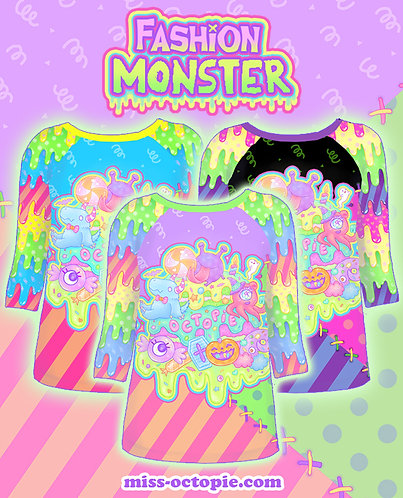 """Fashion Monster"" Raglan Shirt"
