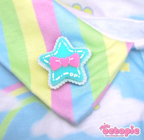 Mint Star Glitter 2-way clip