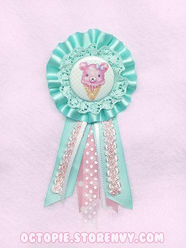 'Pink Bearcone' Rosette Badge