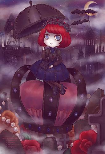 """Gothic Lolita Adventure"" Art Print"