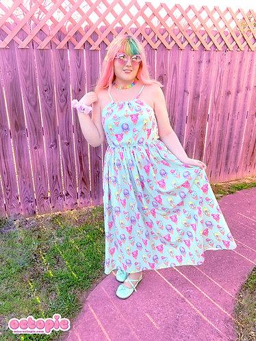 """IceCreamy Bearcones"" Sleeveless Cinched Maxi Dress"