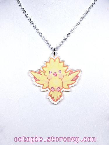 """Team Instinct: Zapdos"" Small Necklace"