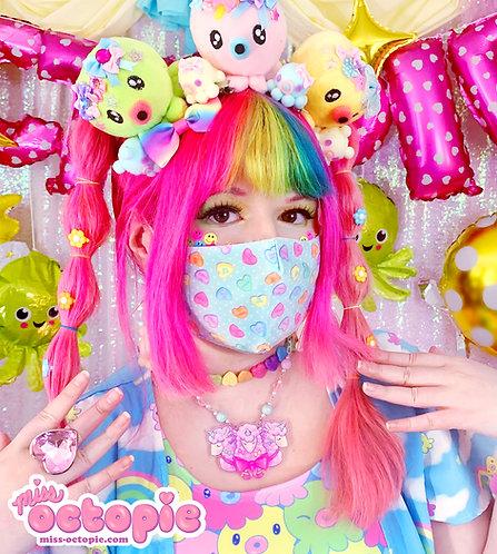 """Lovely Candy Heart"" Face Mask"
